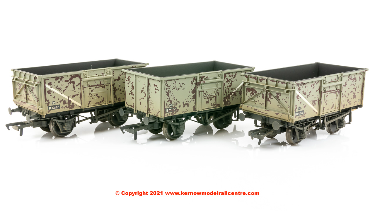 37-239 Bachmann Triple Pack 16 Ton Steel Mineral Wagon BR Grey image